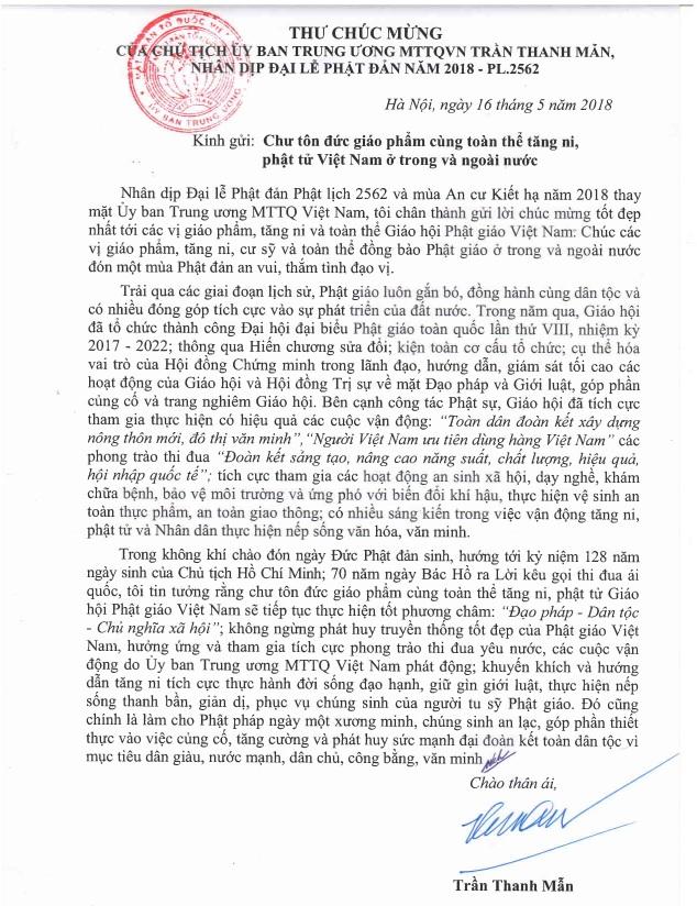 Thư chúc mừng Phật đản PL.2562 của Chủ tịch Uỷ ban T.Ư MTTQVN - thu-chuc-mung-Phat-dan-cua-Chu-tich-uBMTTQVN.jpg (232929 KB)