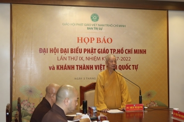 Họp báo Đại Hội Đại Biểu PG TP.HCM lần IX và Khánh thành Việt Nam Quốc Tự